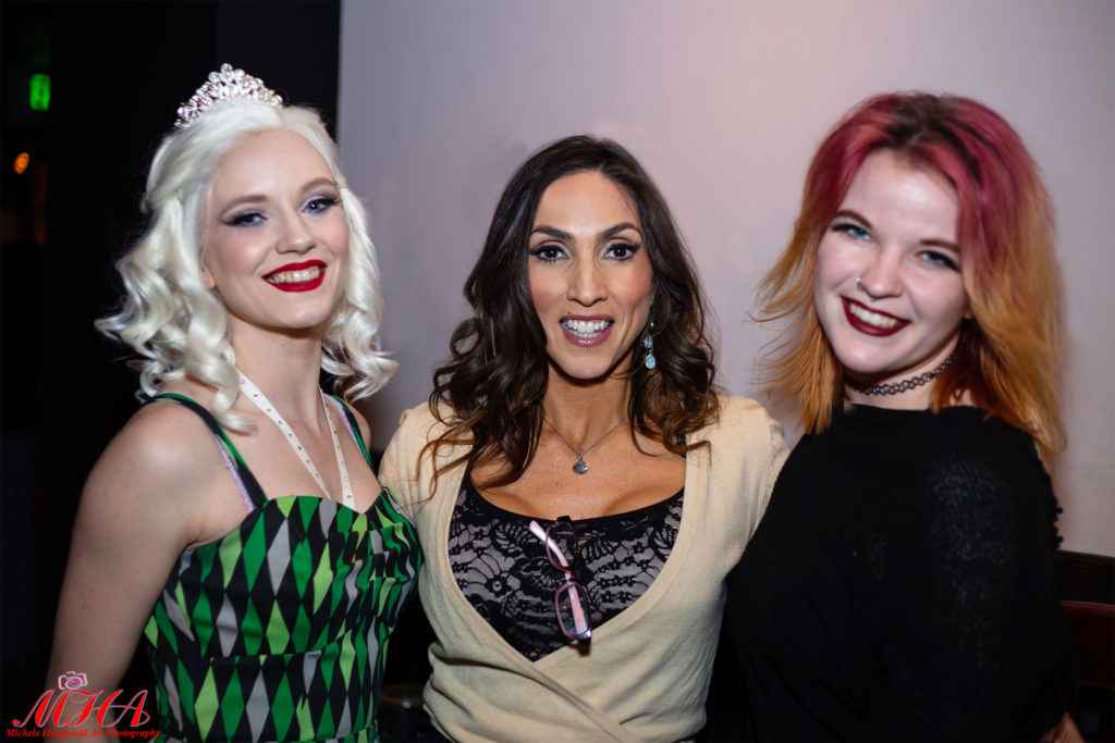 Neo Burlesque performers Charlie Starling, Tonya Tovias and Marina Mars supporting BurlyCares